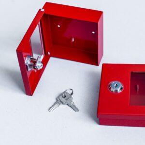 Ключница пожарная для 1 ключа с полимерным порошковым покрытием