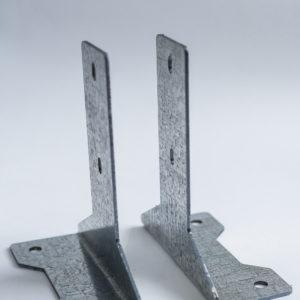 Основание для столба из цинка без покрытия (2 мм)