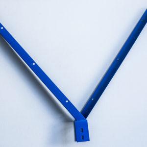V-образный наконечник из цинка 1.5мм в полемере для столба 60*40